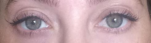 Eyelash extensions 4 Weeks post